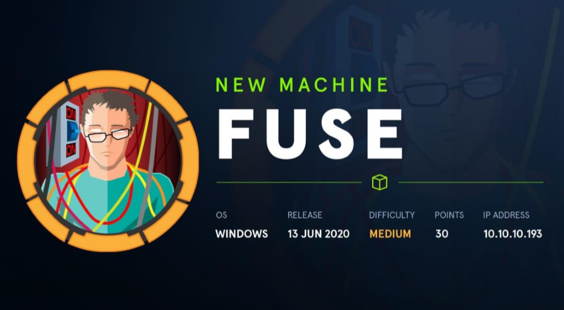 HTB Walkthrough Fuse 10.10.10.193